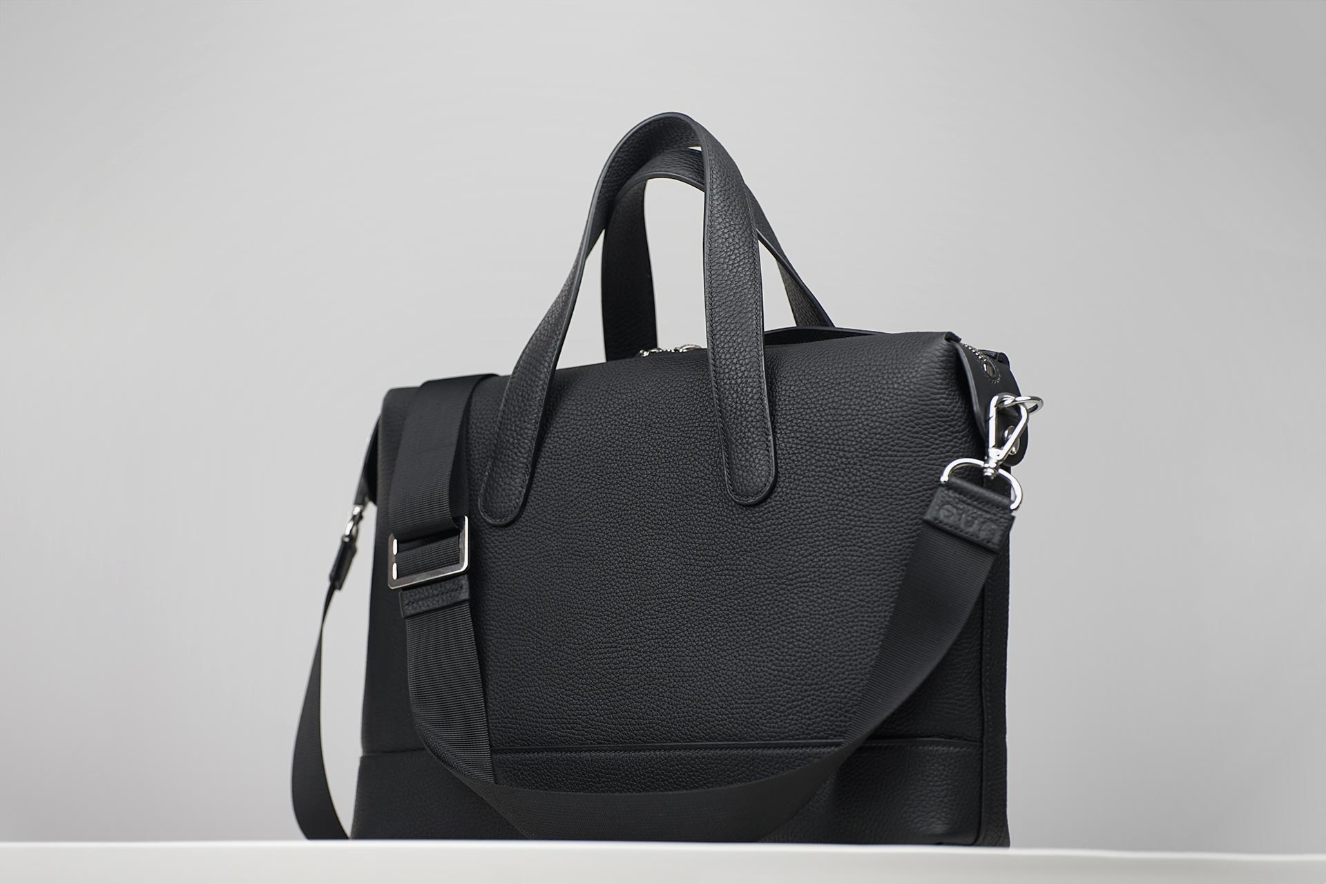 man black leather briefcase bespoke
